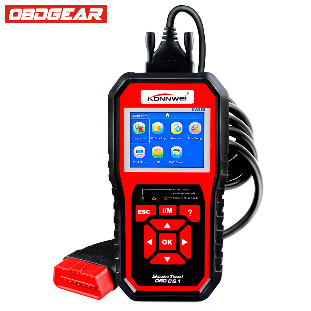 Universal OBD2 Autoscanner KONNWEI KW850 Car Diagnosis in Russian Spanish Automotive Escaner Portugues Better AL519 Car-Detector bayo akinnola using fuzzy logic in patient computer assisted diagnosis