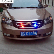 Police Style Car 12V 18LED Red/Blue Stroboscopic Light with 3-Mode Controller Red Blue White Green Amber Yellow