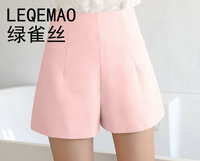 NEW 2018 Summer Shorts Women High Waist Solid Chiffon Short Harem Bottoms Female Waist Thin Shorts AE202 01 04