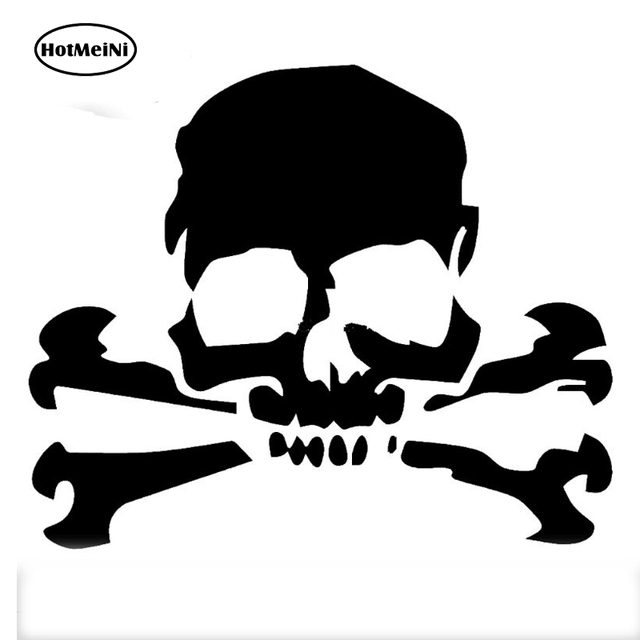 Hotmeini 12 710 5cm car stickers skull cross bones pirate cartoon jdm car window car