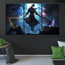 Game Kayn Large Poster Top-Rated Canvas Print Type Modern Home Decorative Living Room 3 Panel League Of Legends Painting