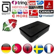 Portugal Europa MAG250 IPTV IPTV Alemania Albania Ex-yu Francés Turquía ruso Adultos XXX MAG Sistema Linux 250 STi7105 Set Top caja