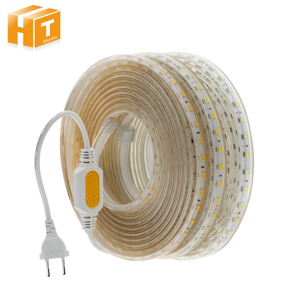 AC220V LED Strip 5050 High Safety High Brightness Flexible LED Light 60 LEDs/m IP67 Waterproof LED Strip Light. greethink high brightness 5050 smd led red light 60 leds m 12v 5m led strip flexible strip light