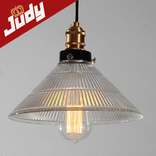 ФОТО Judy Lighting-Vintage Pendant Light Cafe Creative Glass Fold Pendant Lamp Bar Lamp antique pendant lights Bamboo hat shape