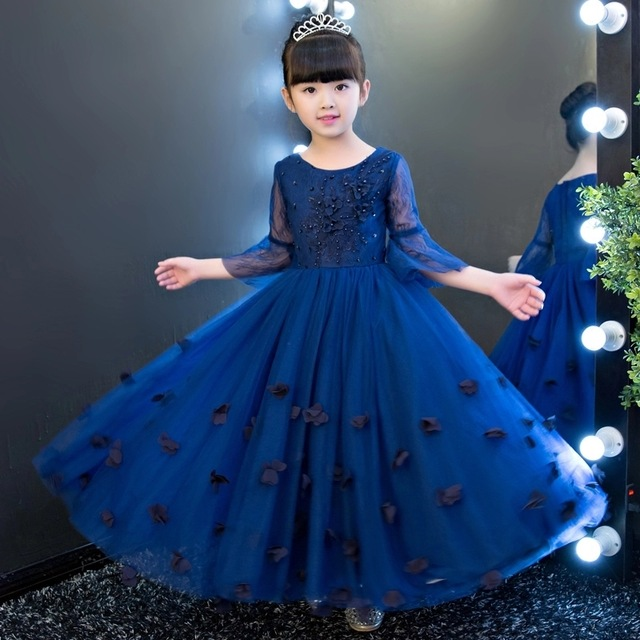 Royal Blue Party Dress Girls