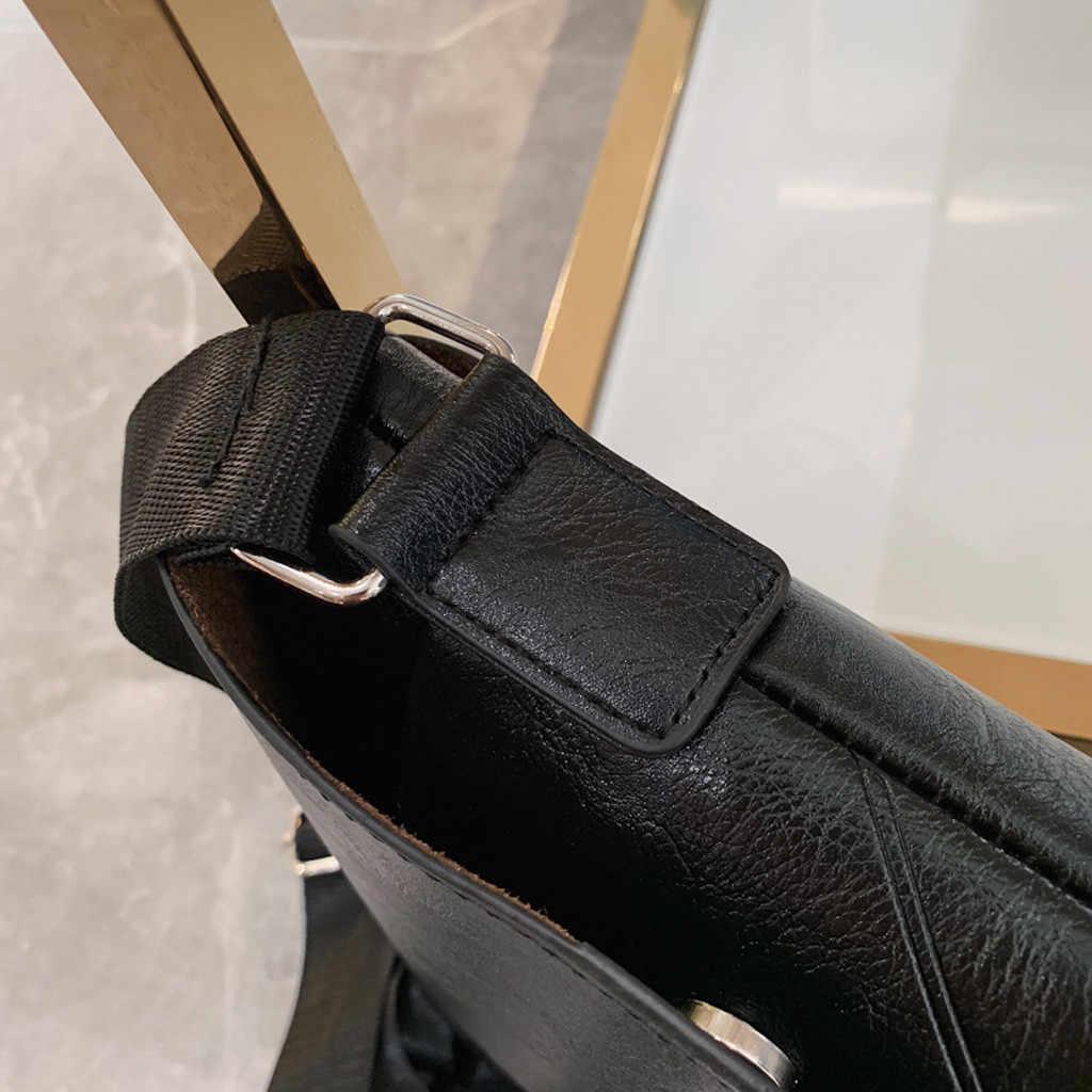 Aelicy mężczyźni biznes miękka skóra syntetyczna torba jakości podróży Crossbody dorywczo miękkie torby stałe teczki Hot sprzedaży