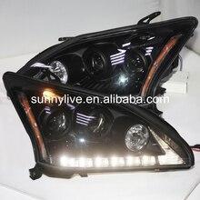 Светодиодная фара для Lexus RX330 RX300 r350 2004-2009 год черный Корпус желтый Отражатели SN
