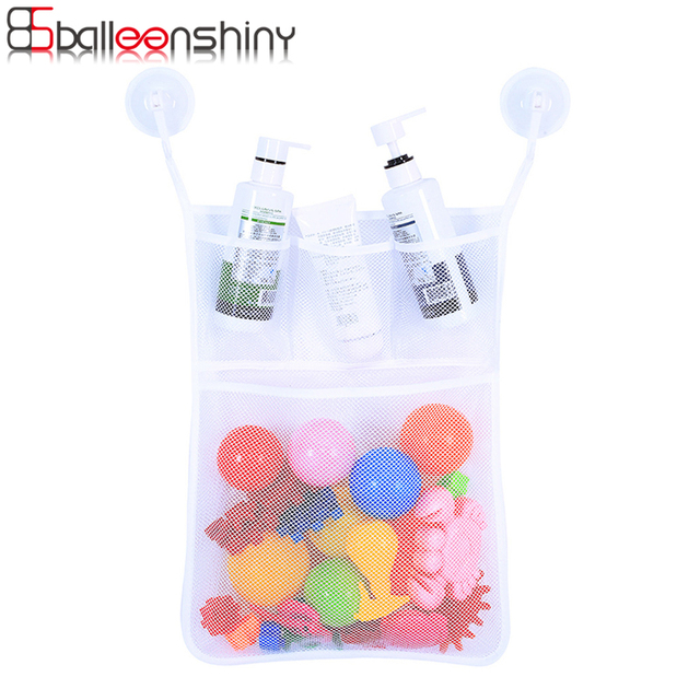Bon BalleenShiny Bathroom Storage Bag Baby Bath Toy Organizer Hanging Mesh Bath  Toy Net Suction Cup Baskets