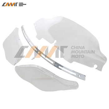 """6"""" Windshield Slotted Stock Batwing Trim Side Air Wing Case for Harley Davidson Electra Street Glide Touring Bike 1996-2013"""
