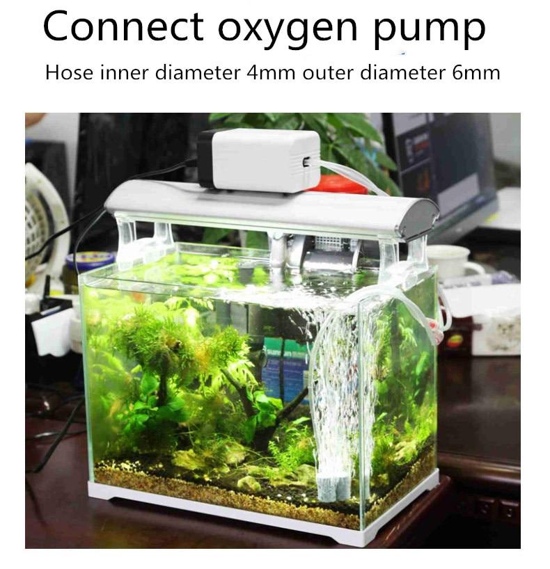 Aquarium 1m/3m/5m/10m Oxygen Pump Hose Air Bubble Stone Aquarium Fish Tank Pond Pump Tube 4*6mm