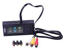 새로운 CVBS 아날로그 디지털 AV 레코더 오디오 비디오 캡처 변환기 VHS 캠코더 DVD 카세트 테이프 TF 카드 Canbe 8G MP3 플레이어