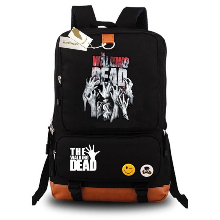 Anime Walking Dead Fashion Popular Canvas Shoulder Bags Backpack Rucksack Zombie Children School Bag Unisex Teenages Backpacks