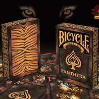 1Pcs Bicycle Panthera Playing Cards Tiger Themed Bicycle Poker New Sealed From Us Imports Favorite Deck Magic Props Magia Tricks