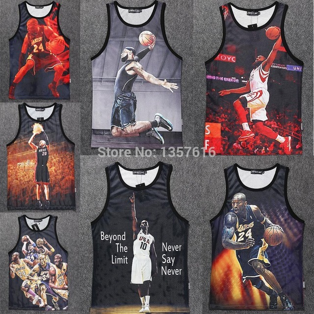 3092ed19eb6 Men Vest Jordan 23 star tops jersey sportwear Bodybuilding Tank Top Hip Hop  Streetwear Clothing plus