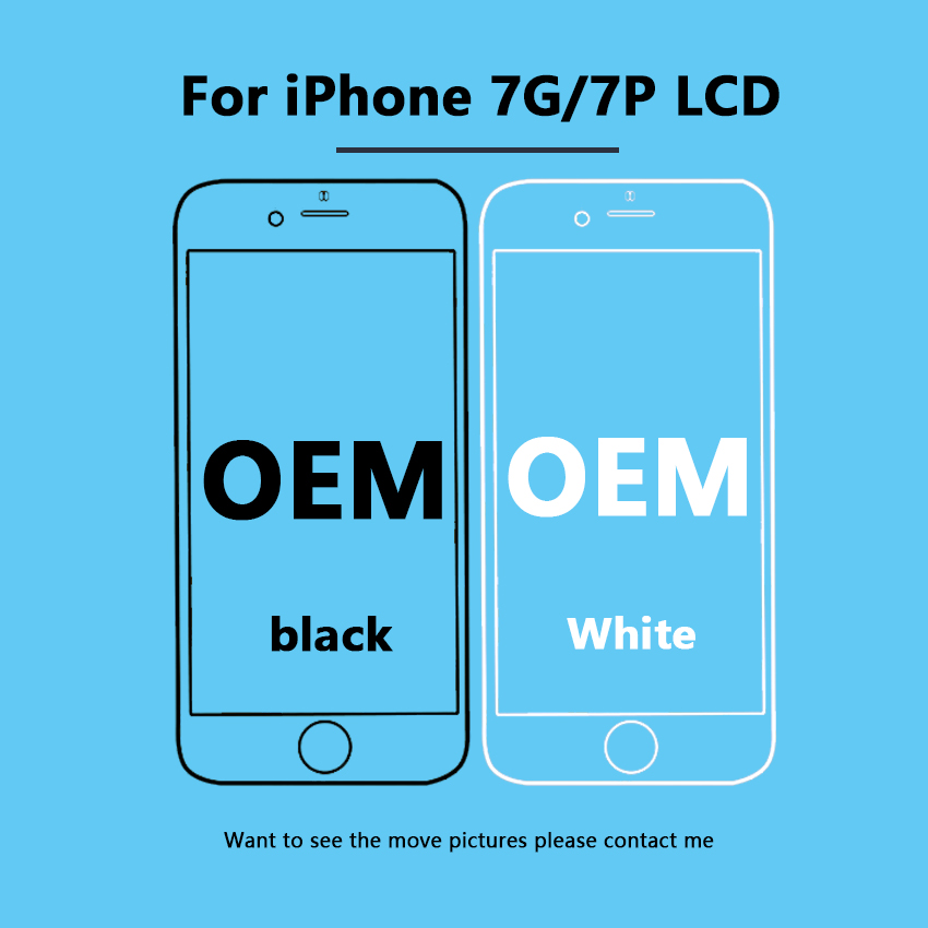 White&Black 100% OEM 4.7/ 5.5 Screen For iPhone 7G 7Plus LCD  Screen Replacement Display with 3D Touch Screen Digitize Assembly