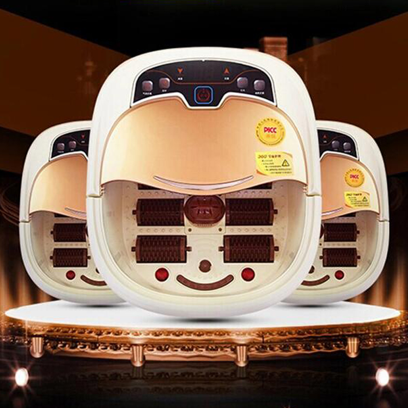 Hot Sale Foot bath fully-automatic massage footbath electric heated massage feet basin bath free shipping electric antistress therapy rollers shiatsu kneading foot legs arms massager vibrator foot massage machine foot care device hot