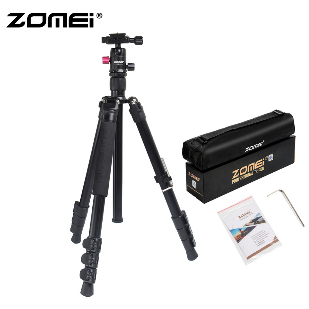 ZOMEI M3 Camera Tripod & Monopod Light Weight Travel Tripod with 360 Degree Ball Head and Carry Bag for SLR DSLR Digital Camera-in Live Tripods from Consumer Electronics    1
