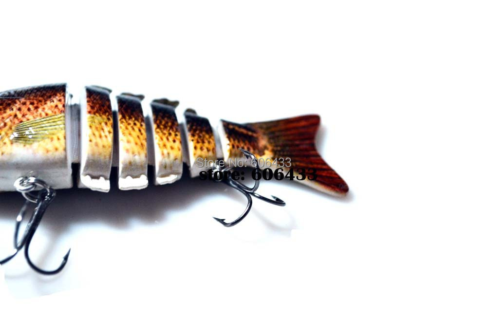 Deep Sea Multi section Lure Fishing Fish Swing Lures 6 Segment Swimbait Crankbait 10cm/20g 8033-FL62S01 Free shipping