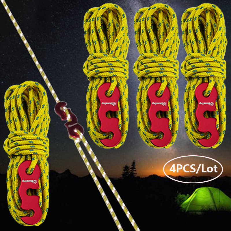 Tent Guide Rope Add Tent Pegs Cord Guy Line Tent Guide Rope With Aluminum