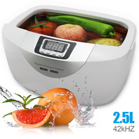 HIMOSKWA 2.5L Ультразвуковые очистители стиральная машина автомат цифровой корзины ювелирные часы зубные нагрева ультразвуковой чистого растит