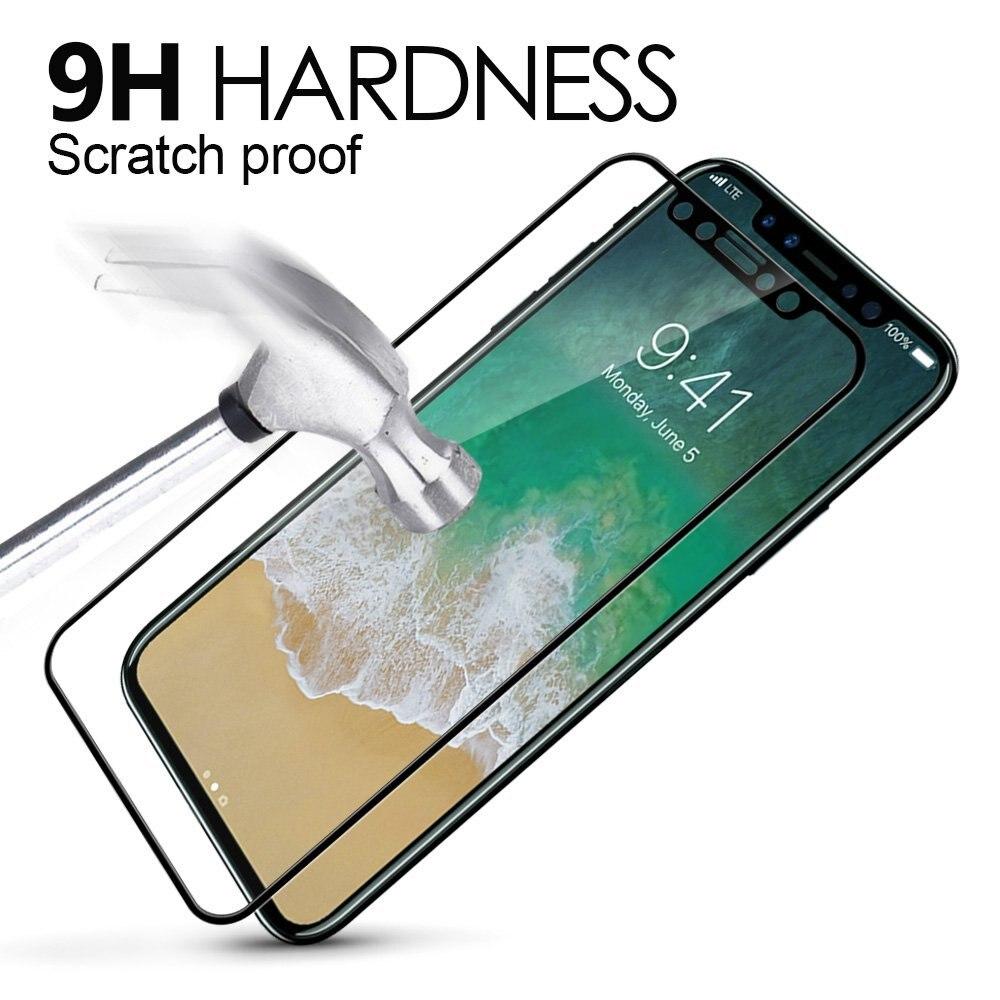 Vidrio templado de superficie curva 5D para Apple iPhone 7 8 X - Accesorios y repuestos para celulares