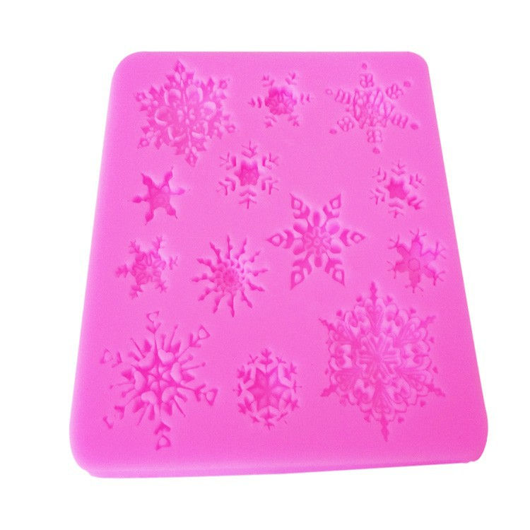3D Christmas Snowflake Shape Silicone Cake Mould
