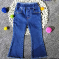 Children Denim Pants Girls Elastic Waist Jeans Boot Cut Trousers Classical Denim Pants Kids Girl Clothes Skinny Trousers Baby