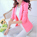 2016 New Arrival Korean Style Autumn Women Blazers Slim Long Sleeve Jacket Womens Slim Small Leisure Suit Polyester Clothes