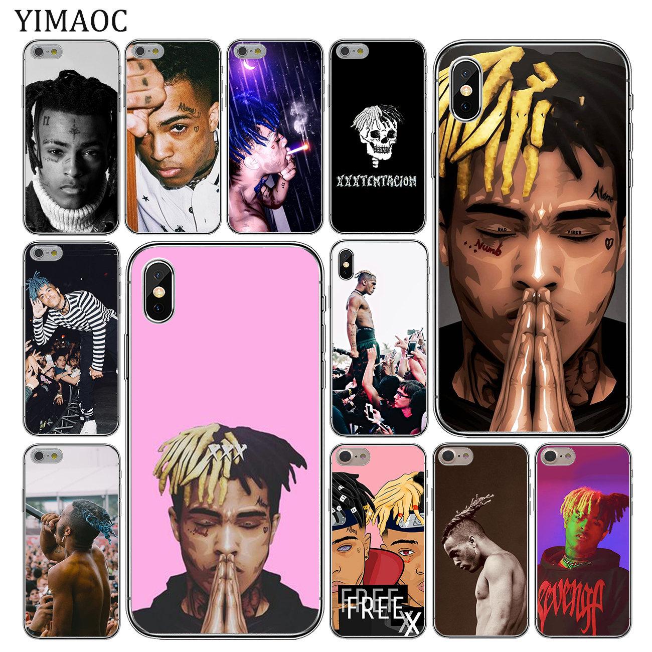YIMAOC Rap Singer <font><b>XXXTentacion</b></font> MC Soft Silicone Cover <font><b>Case</b></font> for Apple <font><b>iPhone</b></font> 11 Pro X XR XS Max 6 6S <font><b>7</b></font> 8 Plus 5 5S SE 10 image