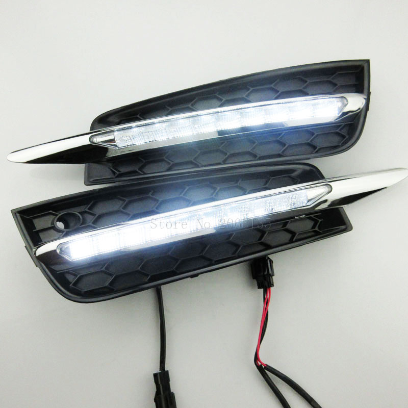 High quality Auto Headlight LED Daytime Running Light Driving External Light Source Car Fog Lamp for Chevrolet Cruze 2010-2014 rockeybright d2s led headlight car 7600lm fog light kit r4 led lamp xenon d2c led bulb d2s d2r auto motorcycle car led headlight