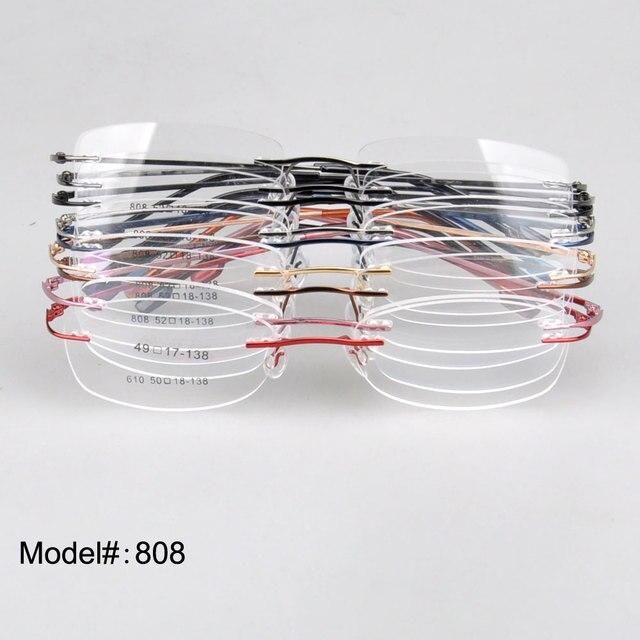 808 оптовая оправы навесной оправы памяти титановые очки по рецепту очки 10 шт.