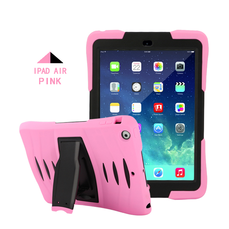 For iPad Air iPad 5 Case Silicone Stand Cover Armor Shockproof Shell Heavy Duty Hard Tablet