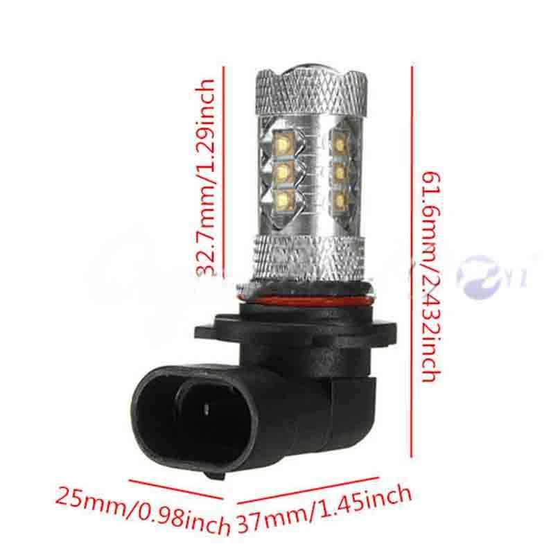 2 предмета H10 противотуманных фар 80 Вт Cree чипы светодиодный фонарь лампа лампочка для фары Авто 12 V 6000 K белый стайлинга автомобилей DRL противотуманная фара Универсальный