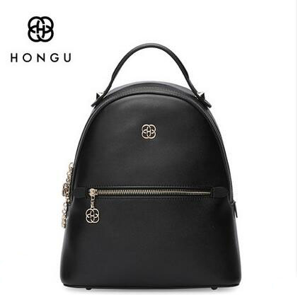 HONGU Europe Style Women Fashion Backpacks Retro Split Leather Backpack Preppy Style Backbags Travel Backpack for Female !