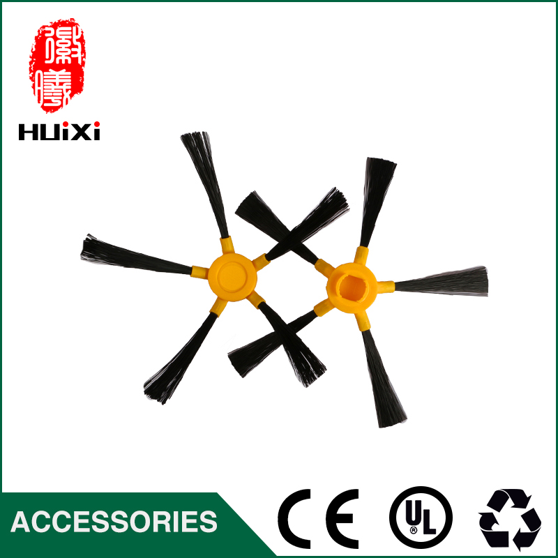 1 Pair Yellow Side Brush Robot Vacuum Cleaner KL810 Six-Armed Cleaning Brush to Home Clean High Efficiency Vacuum Cleaner Parts original oem cleaning robot automatic sweeping 2 sidebrush rotating soft brush 400series vacuum cleaning robot parts accessories