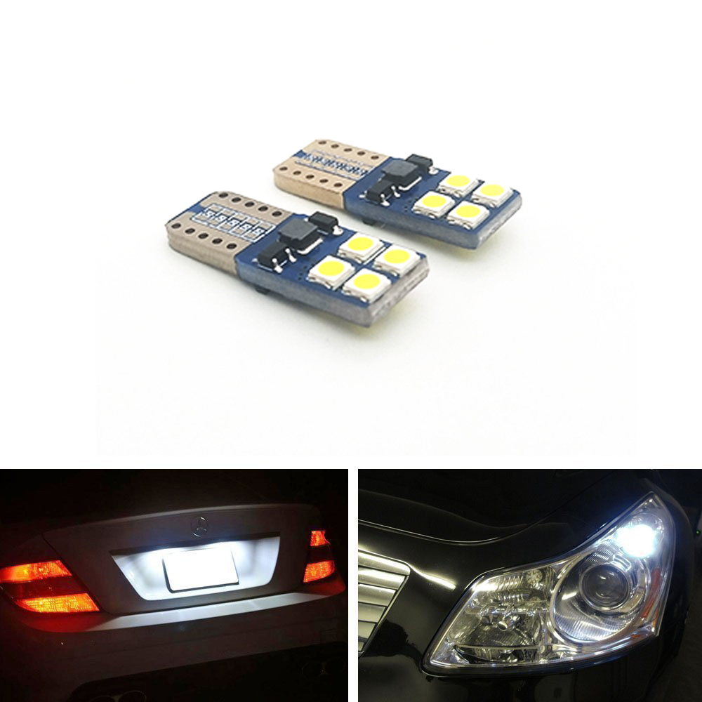 Welback Super Bright Low Power T10 W5W 8-SMD 3030 LED Bulbs for Car Interior Dome Map Door Courtesy License Plate Lights