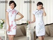 Shanghai Story Mini Qipao Chinese Women's Clothing Cheong-sam Dress Blend Cotton Qipao Floral print qipao