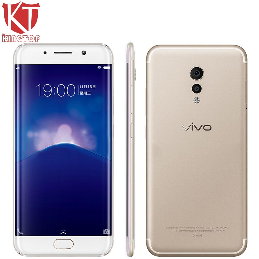 Original VIVO Xplay6 Xplay 6 Mobile Phone 6G RAM 128G ROM Snapdragon 820 Quad Core 5.45 Andriod 6.0 3D Curvy Screen 16MP Camera