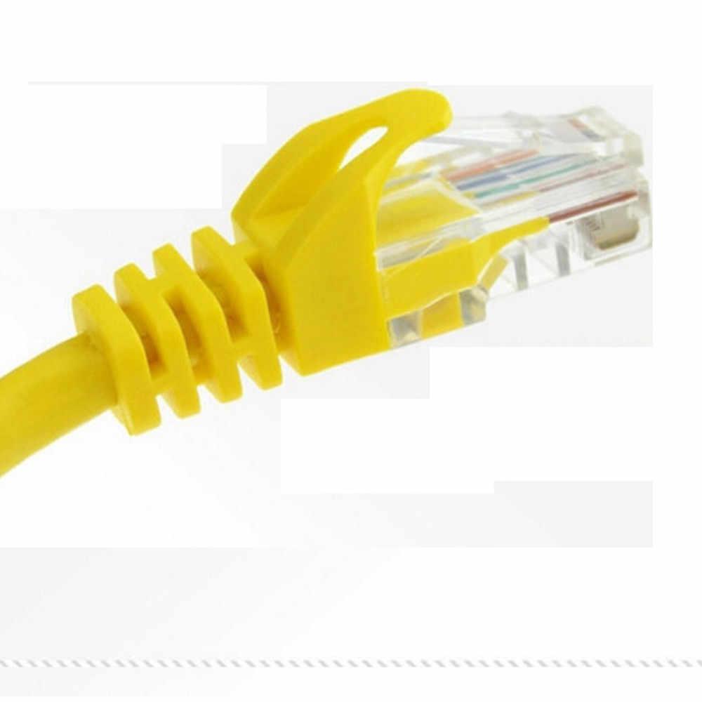 Données meilleur prix 1m 1.5m 2m 3m 5m 10M 20M 30M jaune réseau externe câble Ethernet CAT5e 100% cuivre RJ45 TOP qualité mar24 * 30