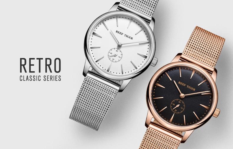 Luxo Rose Gold Tone Casal Relógios de