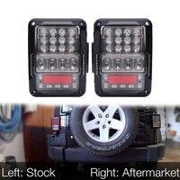 Для Jeep Wrangler 2007 2017 JK JKU светодиодный задний фонарь с перерывом сигнал заднего хода обратный поворот парковочный Сигнал Противотуманные лампы