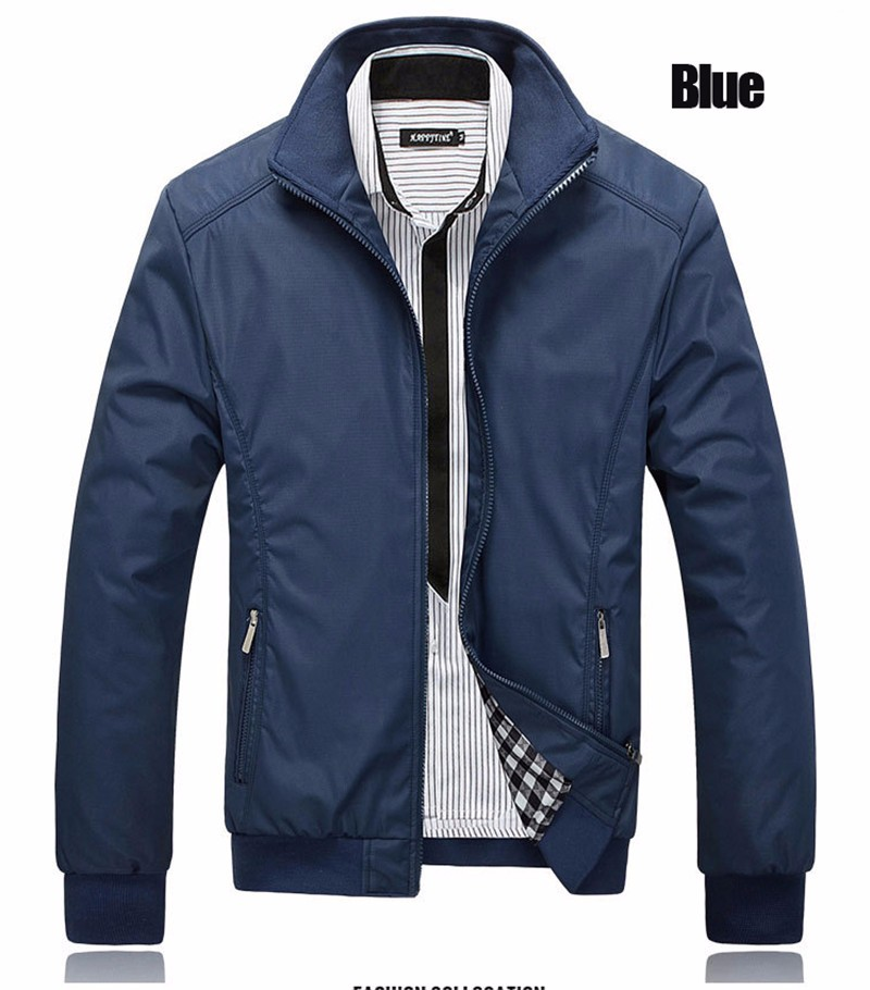 Autumn winter Men Jacket Windbreaker Male Overcoat Casual Solid color Jacket Slim Fit Men Windproof Jacket Coat size 6XL 7XL 8XL