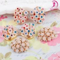 Wholesale 4PCS Jewelry VIYI full disk drill festoon buckle handmade DIY Hair Bow Headband accessories materials