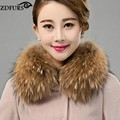 Zdfurs * женщины реально меховым воротником енота квадратный воротник шарф платок зима воротник шарфы ZDC-163010