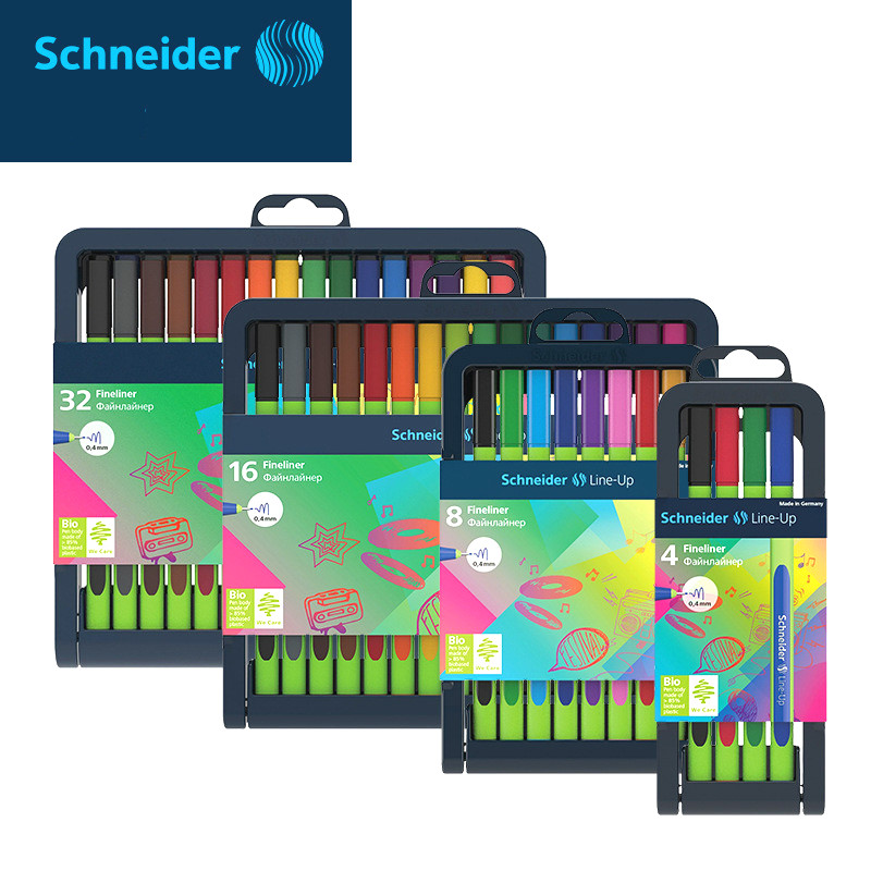 4/8/16 /32 colors  Fineliner Germany Schneider Line-up fiber pen and colorful pens 0.4mm painting drawing pen writes smoothly 16 colors x vented outdoor playing quad line stunt kite 4 lines beach flying sport kite with 25m line 2pcs handles