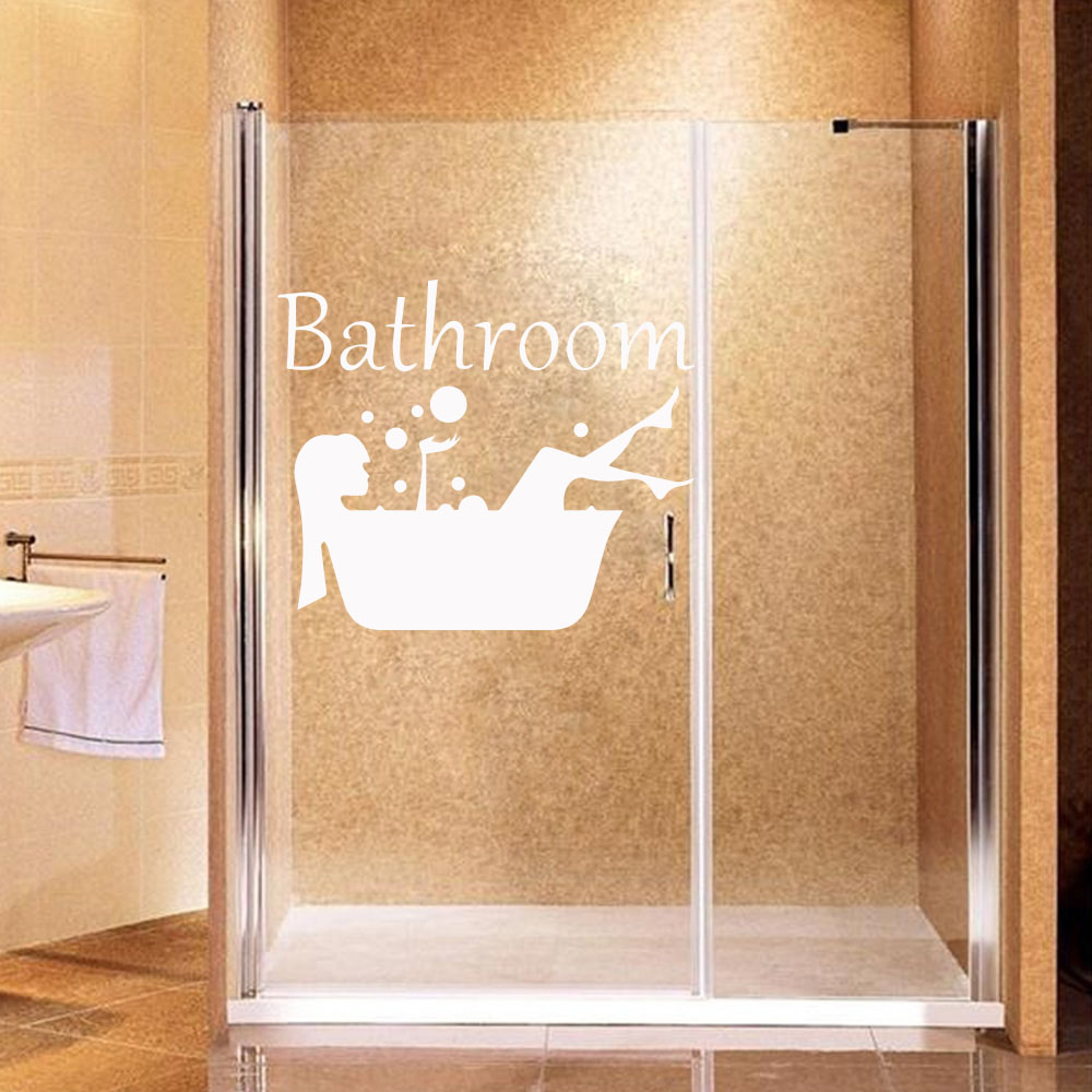 €2.61 18% de DESCUENTO|Envío Gratis tomar una ducha pegatinas de vinilo de  pared para cuarto de baño de vidrio de papel ducha habitación vinilo ...