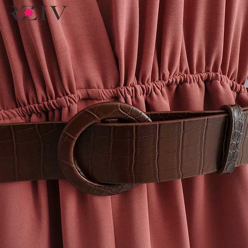 RZIV Summer women 39 s jumpsuit casual solid color V neck short sleeved belt decorated wide leg jumpsuit in Jumpsuits from Women 39 s Clothing