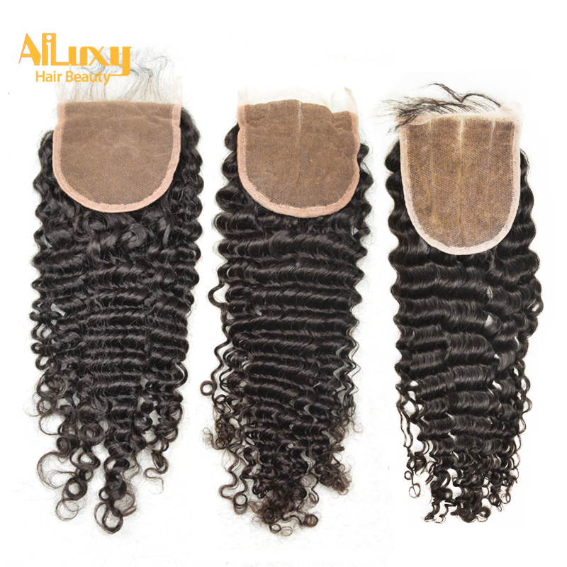 Luxy Hair8a Virgin Hair Brazilian Curly Closure 4x4 Free Shipping