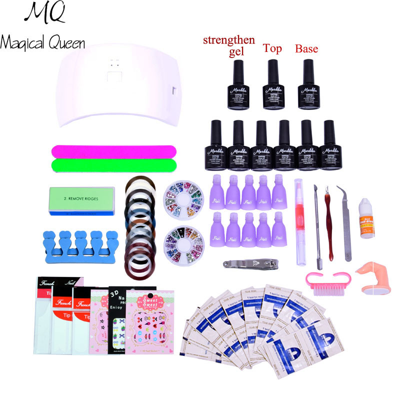 nail set 24w or 36w/48w uv lamp Dryer with gel nail polish soak off manicure products lasting nail polish kit for nail art tools gel nail polish nail kit sun5 lamp 48w uv led dryer manicure set soak off uv gel polish kit manciure tools set nail art sets