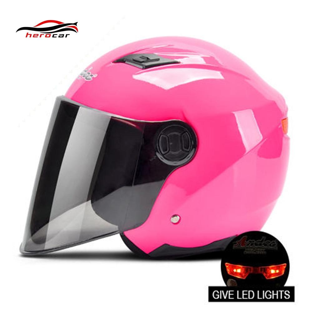 Motorcycle Helmet 3/4 Open Face Helmet Scooter Motorbike Casque Casco Moto Modular Flip Up Helmet With Lens LED Light Capacete